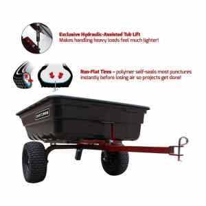 Craftsman Dump Cart run-flat tires