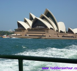 Sydney with toddler at Sydney Opera House
