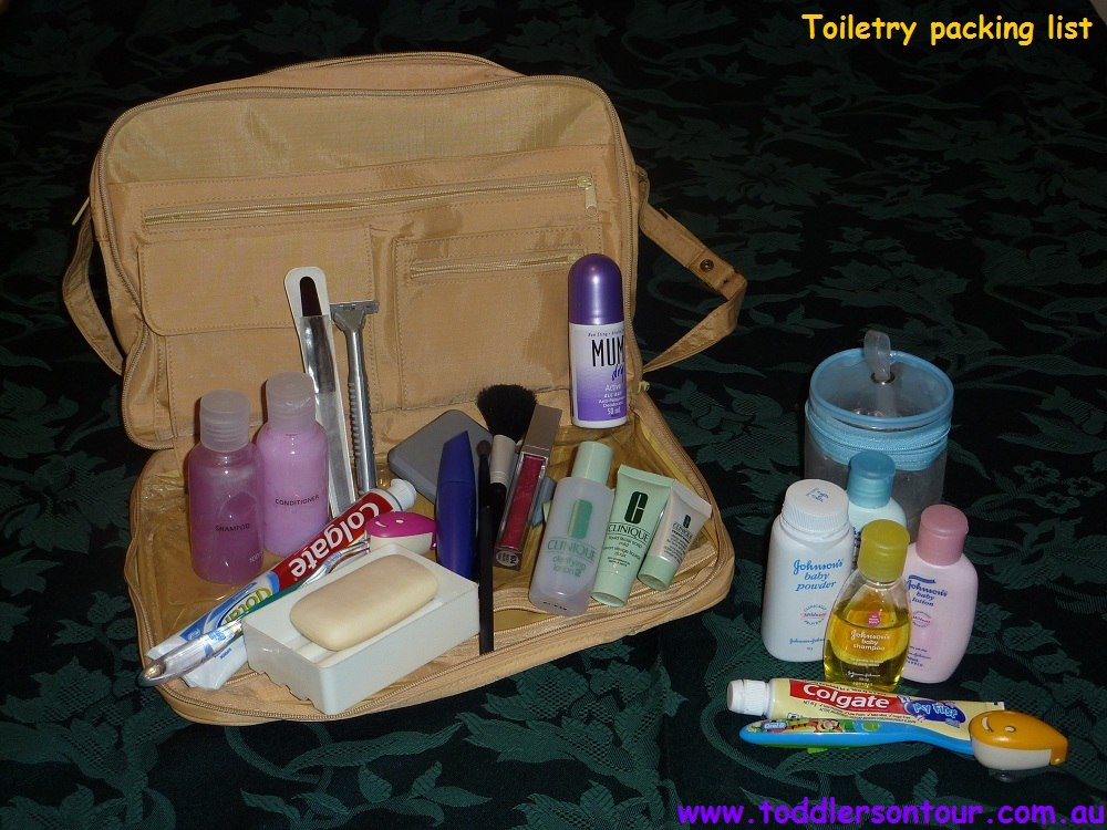 Toiletries Packing List For Family Travel