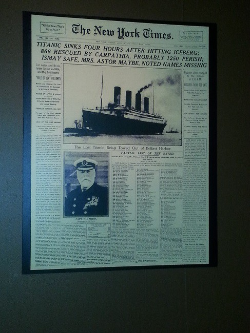titanic exhibtion