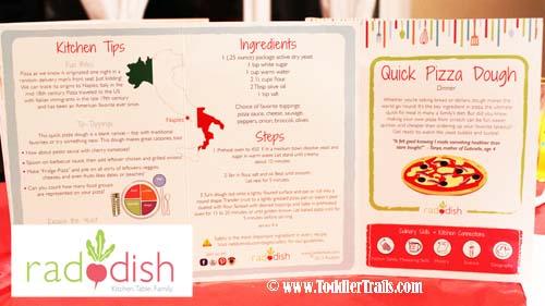 Raddish Box Pizza Recipe Card