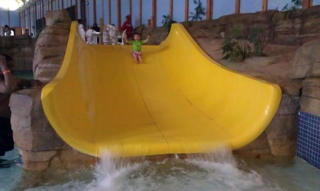 GJGBR - Cooper on family slide alone