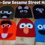 No-Sew Sesame Street Hats