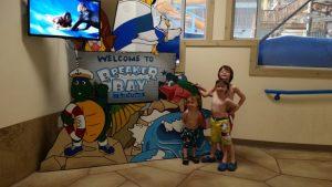 Blue Harbor Resort - waterpark - Breaker Bay sign