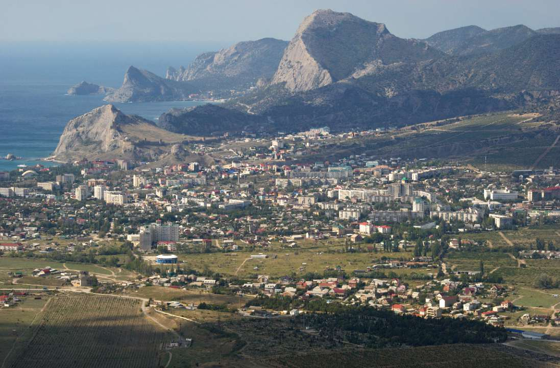 1 The view on Sudak in Crimea