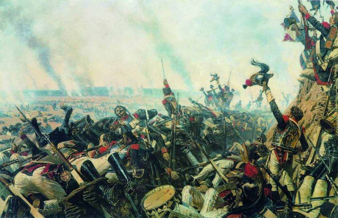 Vasily Vereshchagin.The end of Borodino battle