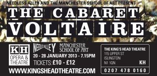 Cabaret Voltaire at King's Head Theatre - Special Offer - Save £5 per ticket!