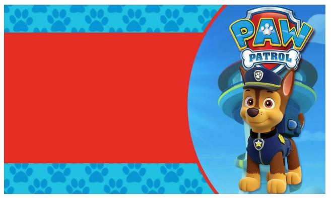 Etiquetas Stickers Tarjetas Paw Patrol O Patrulla Canina