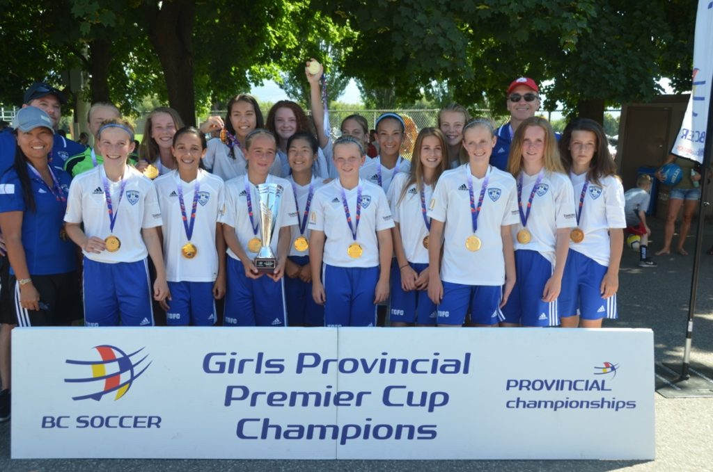 U13 Girls Win BC Soccer Provincial Premier Cup