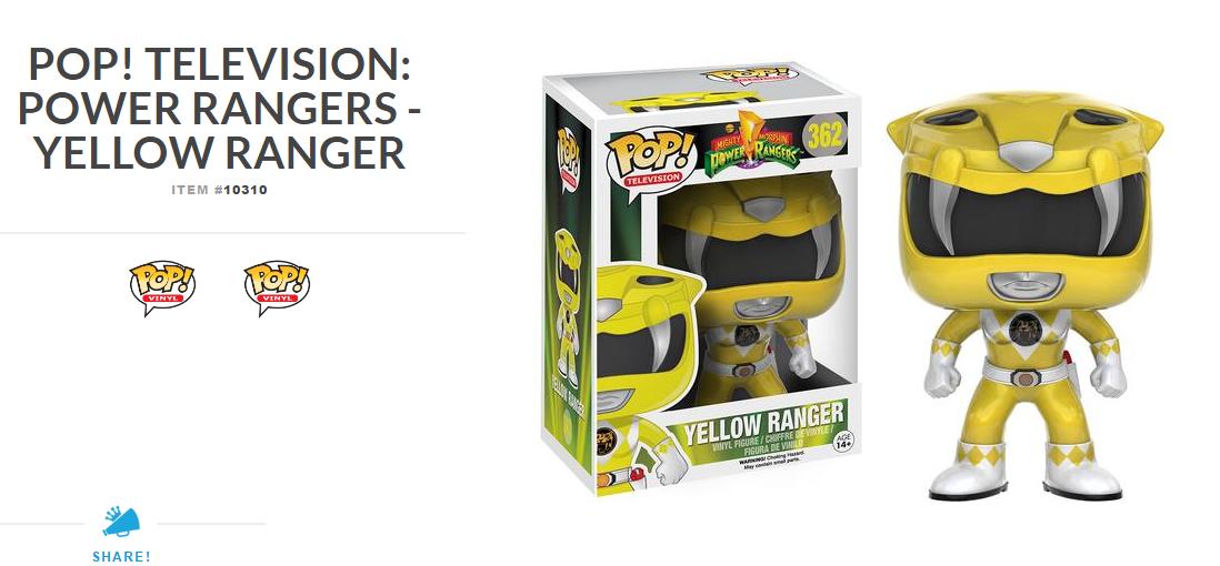 New Power Rangers POP! Vinyl Figures Announced