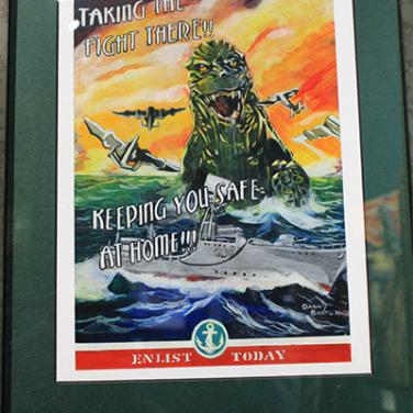 """""""Godzilla Abroad"""" by Danny Barton"""