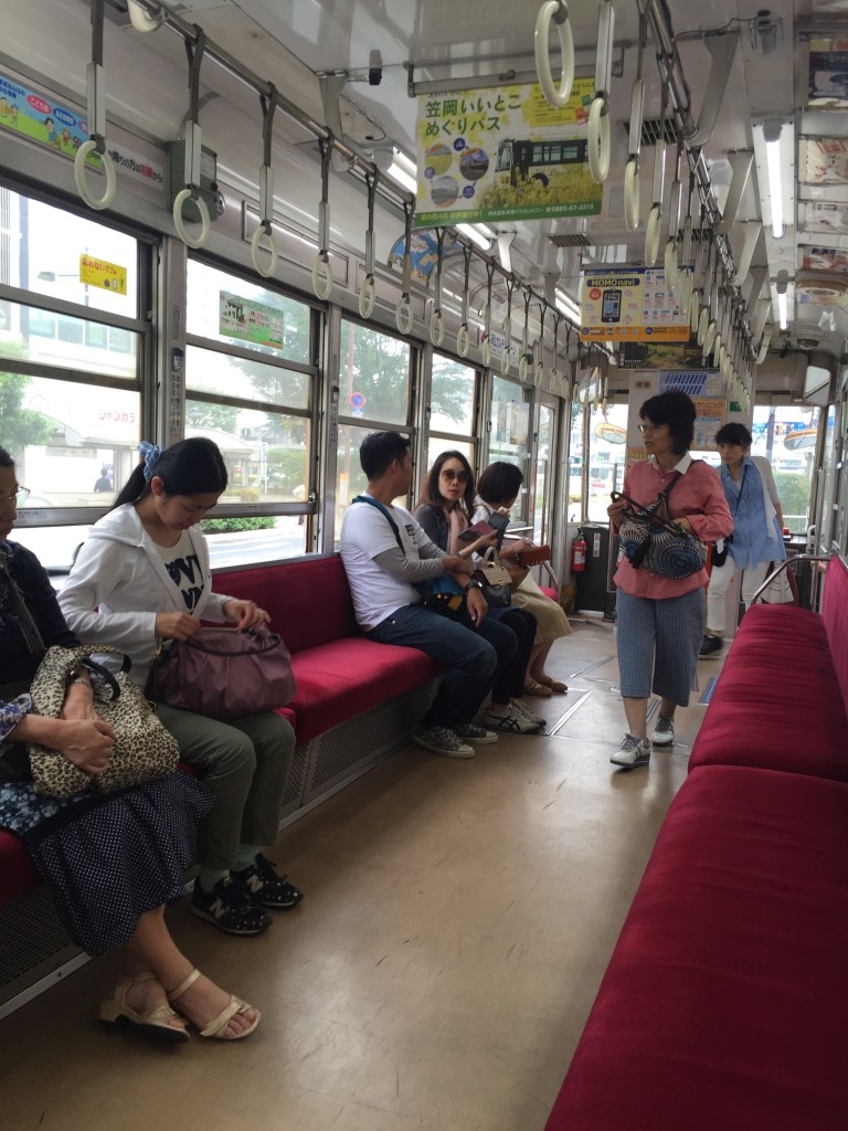 Loved taking a ride for 100 yen on the Okayama Electric Railway to reach Koraku-en - only about a five minute ride from just across from the train station