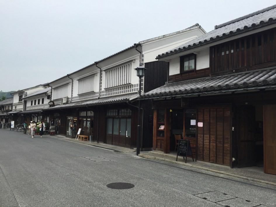 Kura, or traditional warehouses, which stored rice in the Edo period. Part of the historical district in Kurashiki