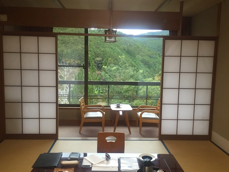 My room at the wonderful Yunomine-sou Japanese ryokan in Yunomine Onsen