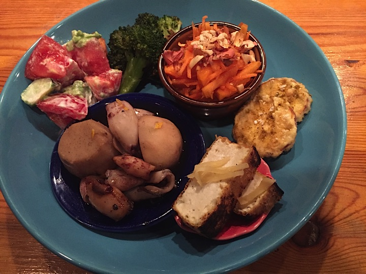 Fukami is a wonderful cook and specializes in vegan and gluten-free food. This was actually my Thanksgiving feast.