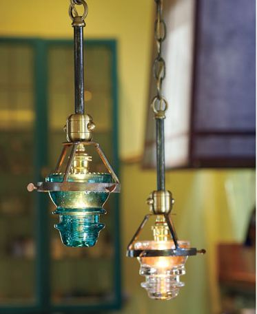 Glass insulators can t protect me from jet lag for Antique insulator pendant lights