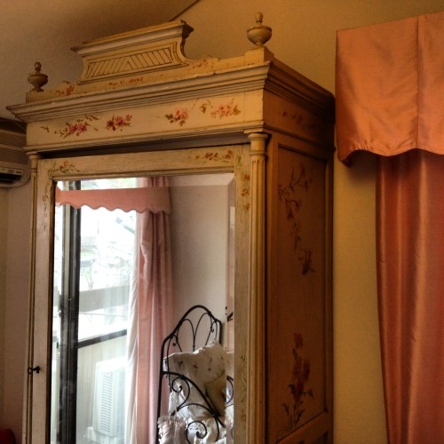 19th c painted french armoire