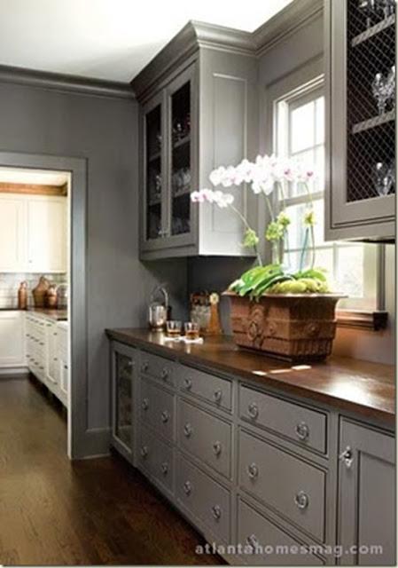 gray kitchen atltanta homes mag wood counter