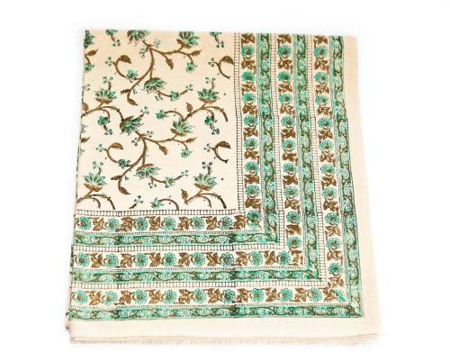 exotic mint sprigs peacocks and paisleys