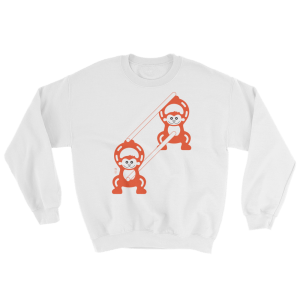 Monkeys at Work - Japanese construction fence - Sweater