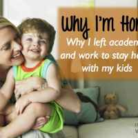Why I'm at Home: Deciding to Be a Stay at Home Mom