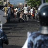 Protestors confront police in Lome, Togo