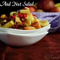 Fruit And Nut Salad Recipe| Salad Recipes| Dessert Recipes