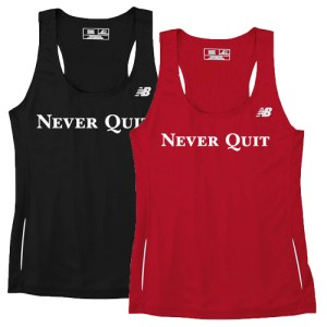racerback tank RED AND BLACK