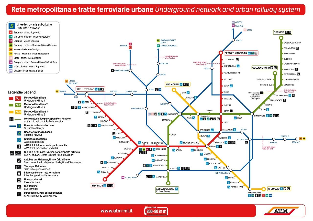 Milan Metro Map | My blog