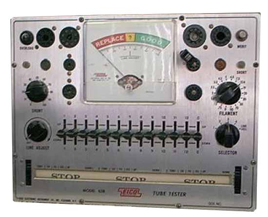 Eico 625 Tube Tester reprint manual with tube data
