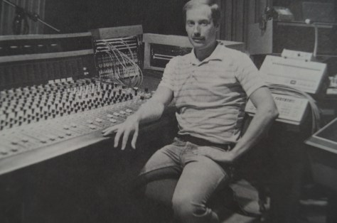 Ben Burtt at the console while working on Return of the Jedi