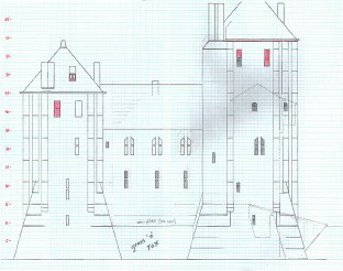 Castell Coch south elevation plan