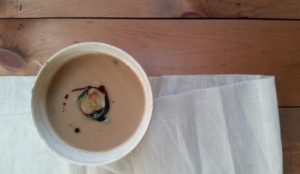 Celery Root, Chestnut and Stout Soup