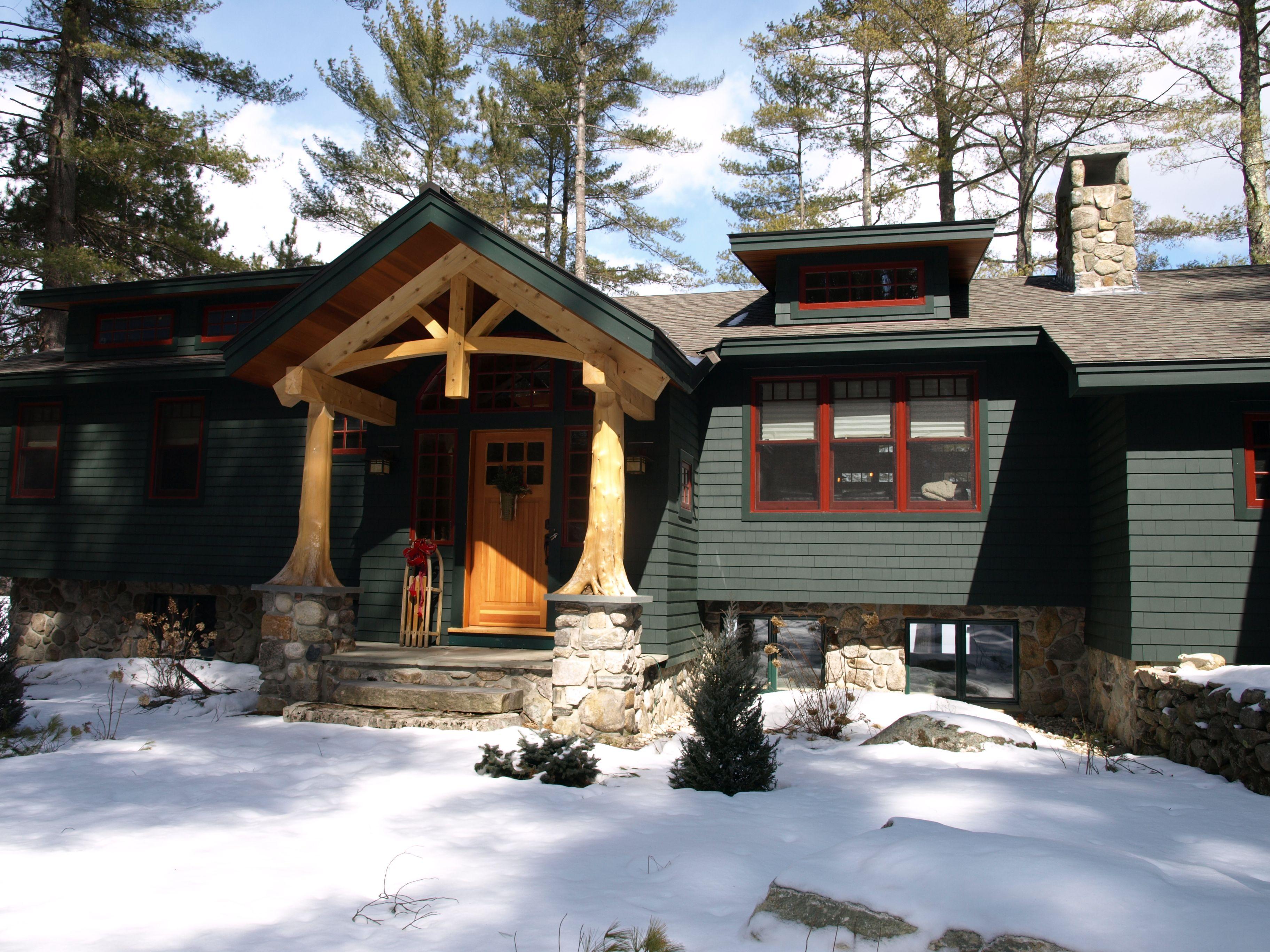 Lakefront Raised Ranch Transformed To Lodge Tony Fallon