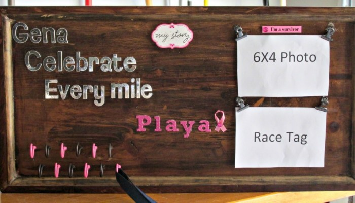 DIY Runner's Race Bib and Medal Holder