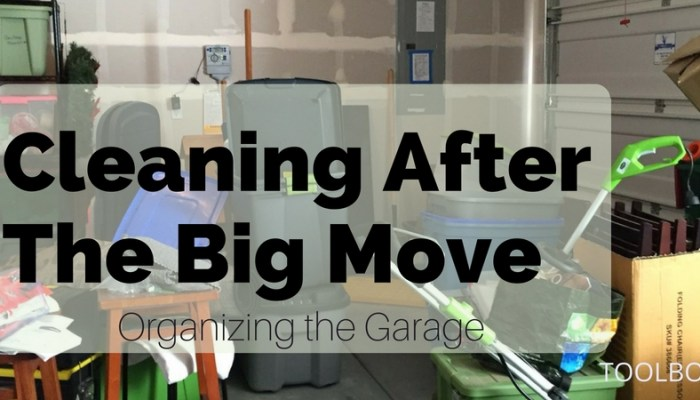 Cleaning up a Garage After a Move