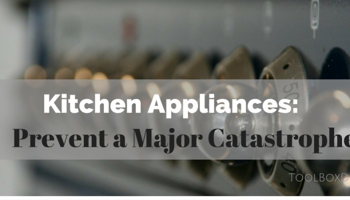 Kitchen Appliances: Prevent a Major Catastrophe With Minor Fixes