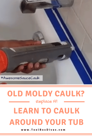 How to replace the old caulk around the tub.