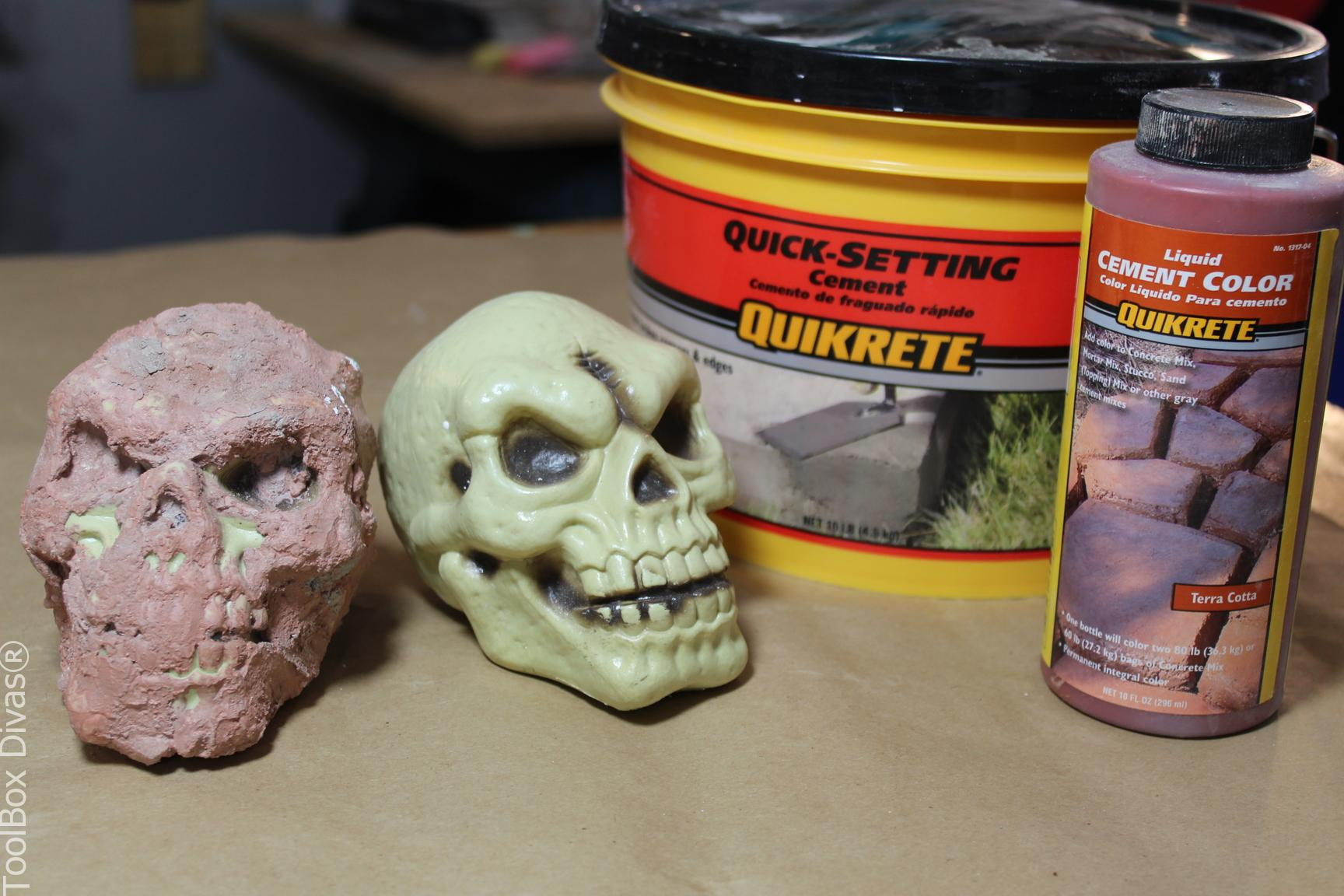 Quick Setting Cement : Diy halloween decorations using concrete and plaster