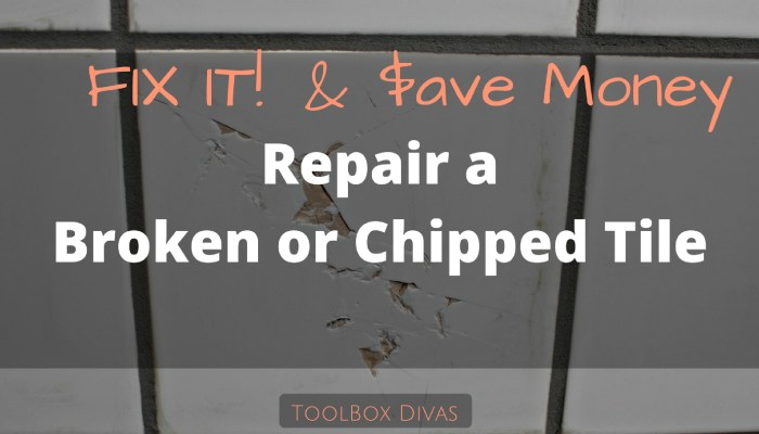How to Repair a Broken or Chipped Tile
