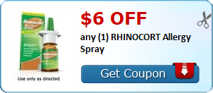 $6.00 off any (1) RHINOCORT Allergy Spray