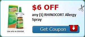 $6.00 off any (1) RHINOCORT Allergy Spray