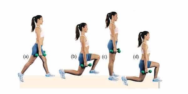 avanco andando entre os melhores exercicios para aumentar o bumbum