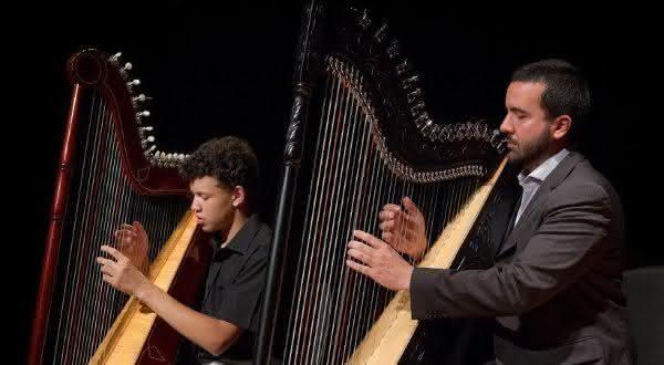 harpa entre os instrumentos musicais mais difíceis de aprender a tocar