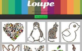 Loupe Aplicaciones para hacer collages de fotos online