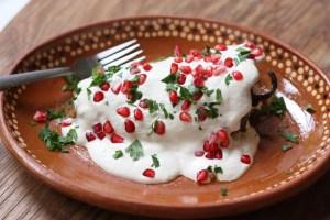 chiles en nogada Mejores comidas Mexicanas