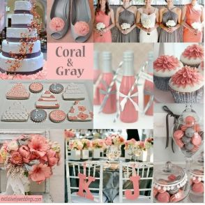 grey_coral wedding colors
