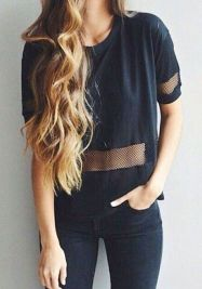 black mesh outfit