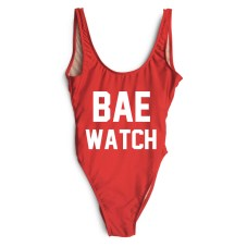 bae watch swimsuit at private party