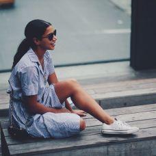 lisa marie fernandez striped cotton poplin shirt dress